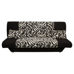 Congo Large Fabric Clic Clac Sofa Bed, Zebra Black