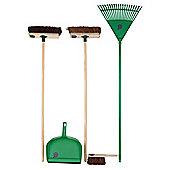Bentley Indoor/Outdoor Broom & Rake Set