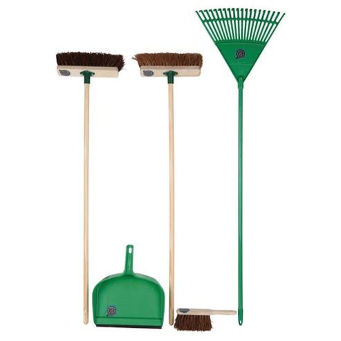 Bentley Indoor/Outdoor Broom & Rake Set