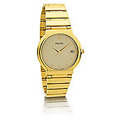 Pulsar Mens Gold Round Bracelet Watch