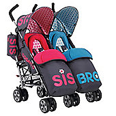 Cosatto You2 Sis and Bro Twin Stroller