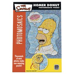 Paul Lamond Simpsons Photomosaic Puzzle Homer Donut