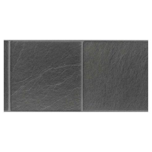 Westco black slate tile effect flooring