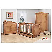 Tutti Bambini Marie 3 Piece Sleigh Room Set, Natural