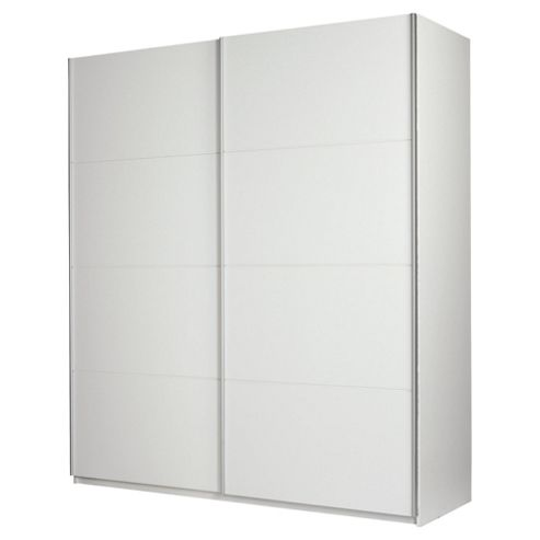 Smith 2 Door Sliding Wardrobe, White