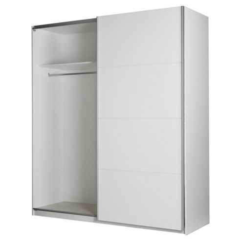 Smith Double Sliding Wardrobe, White 1.8m
