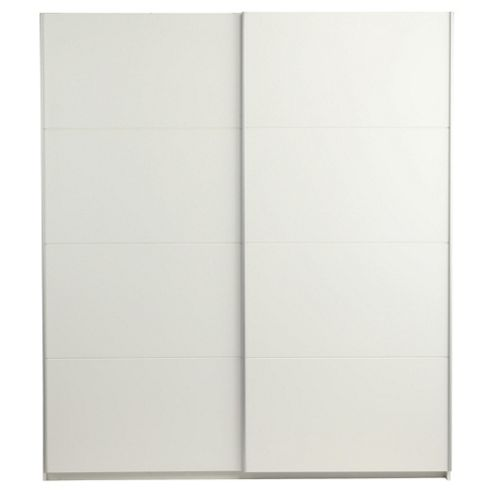 Smith Double Sliding Wardrobe, White