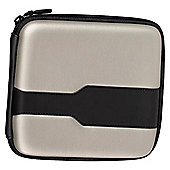 Hama Metallic Silver Wallet for 24  CDs / DVDs