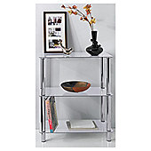 Atom 3 Shelf Unit, Clear..