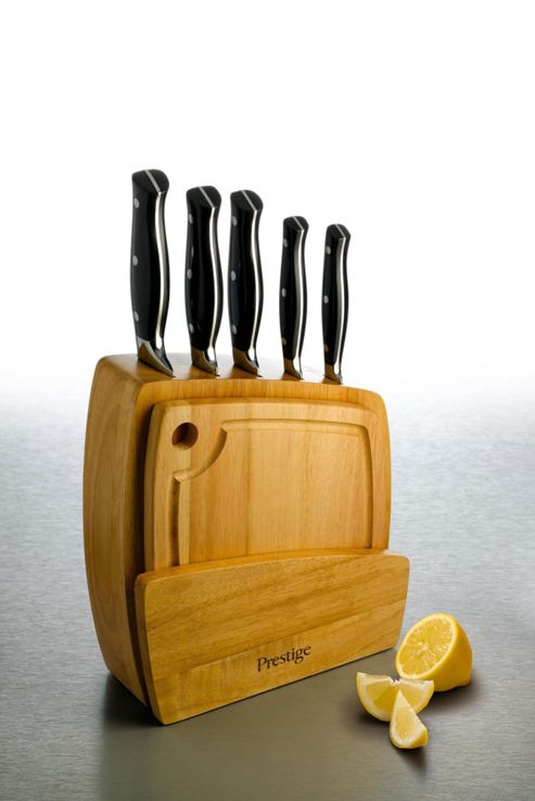 Prestige Seven Piece Knife Block and Board Set