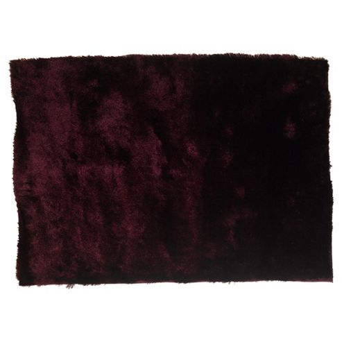 Tesco Rugs Luxurious Shaggy Rug 70X140Cm Plum