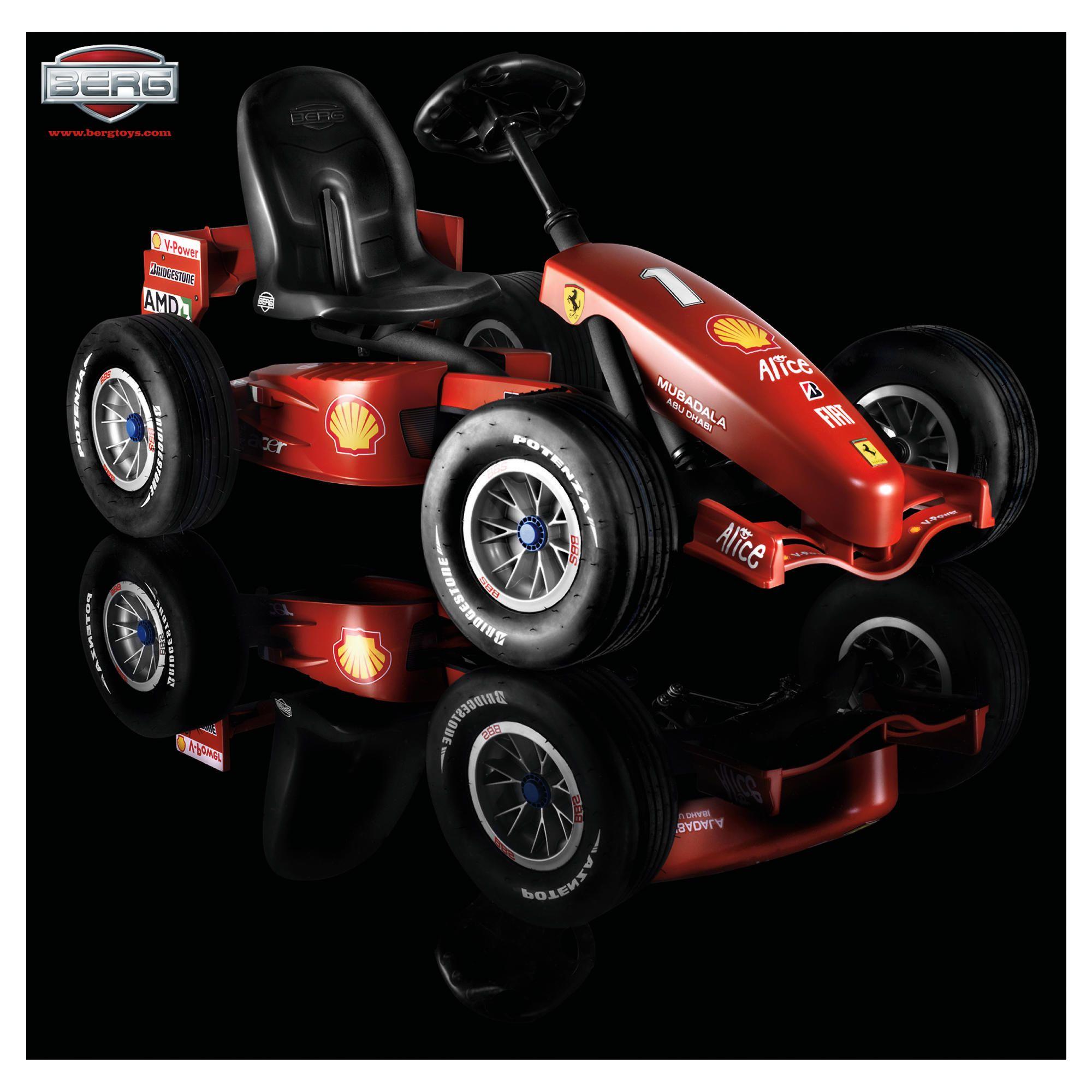 Berg Ferrari F1 Buddy Ride-On Go Kart at Tesco Direct