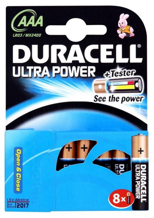 Duracell Ultra 8 Pack AAA Batteries