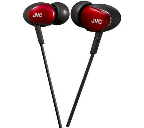 JVC Marshmallow Headphones Red HAFX67RE