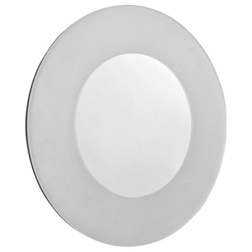 Tesco Frosted Edge Round Mirror