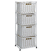 Tesco Wicker Large 4 Drawer Tower