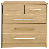 Kendal 5 Drawer Chest, Oak Effect