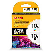 Kodak 10B / Kodak 10C Printer Ink Cartridge - Black & Colour Multipack