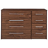 Kendal 8 Drawer Chest, Walnut-Effect