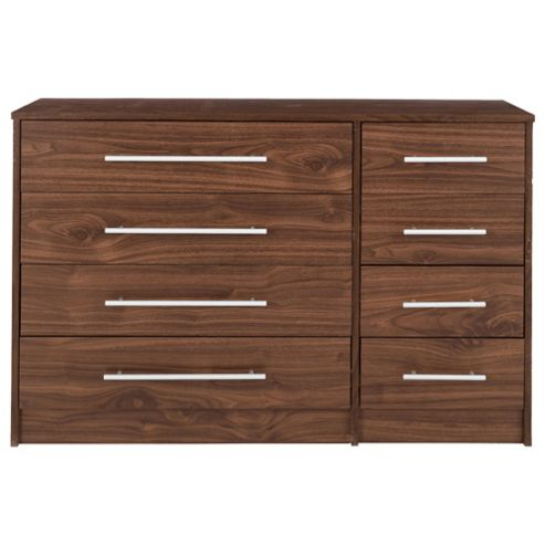 Kendal 8 Drawer Chest, Walnut Effect
