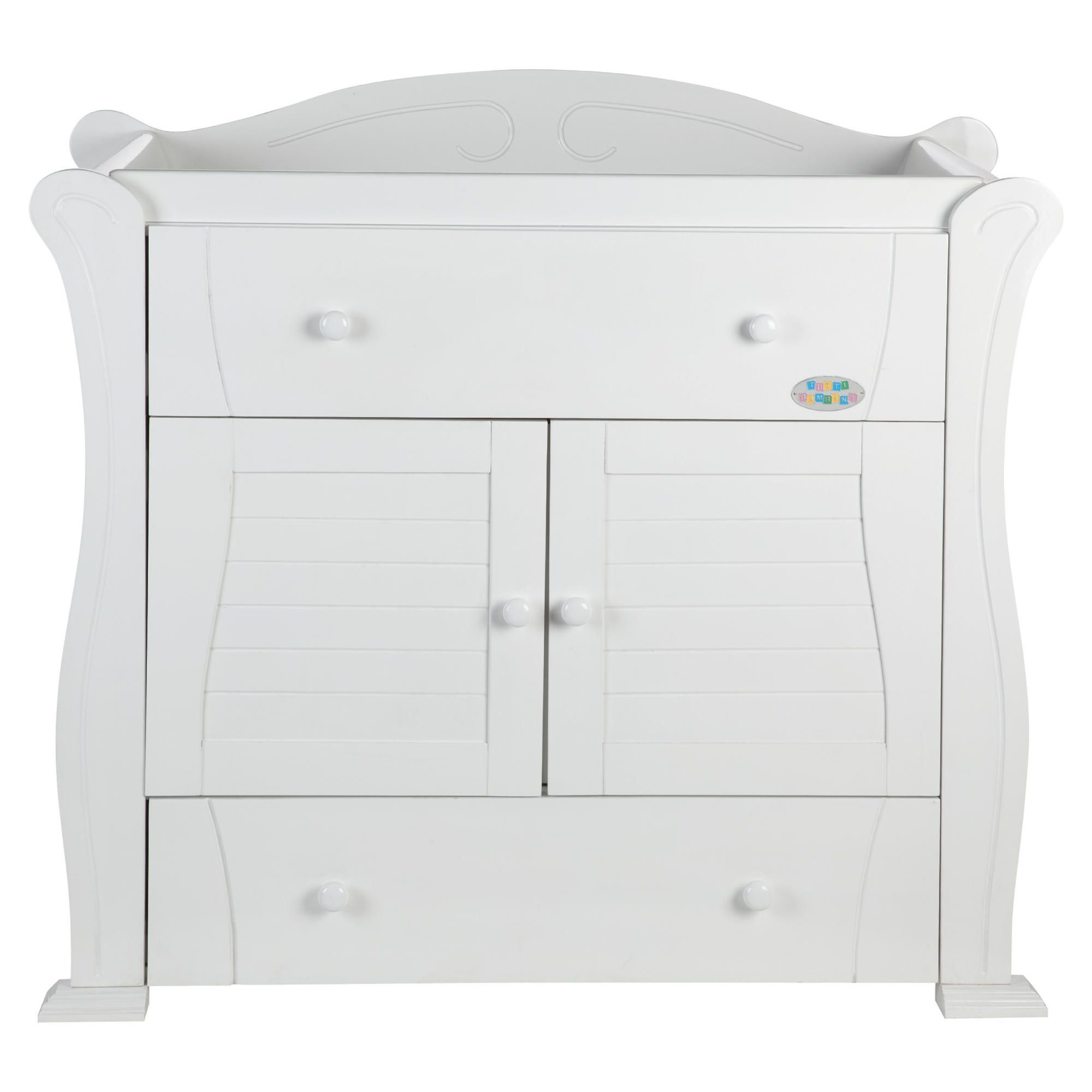 Tutti Bambini Marie Chest Of Drawers, White at Tesco Direct