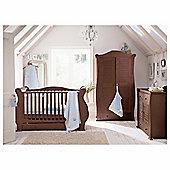 Tutti Bambini Marie 3 Piece Sleigh Room Set, Walnut