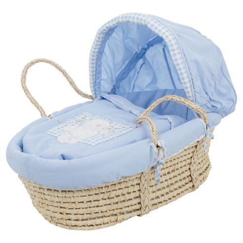 Obaby B is for Bear Moses Basket, Blue