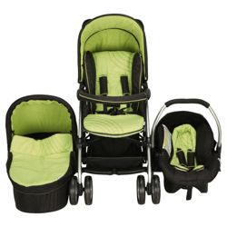 Hauck Condor Trioset Pushchair Travel System, Lime