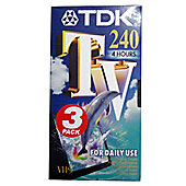 TDK VHS tapes - Pack of 3