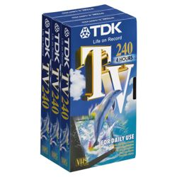 TV240X3 4 Hour VHS Cassette Triple Pack