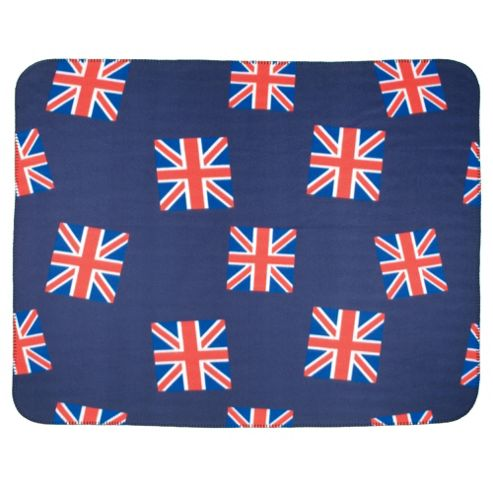 Tesco Kids Fleece Union Jack - Blue