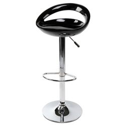 Enco Barstool, Metallic Black