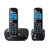 Panasonic KX-TG5522EB Twin Cordless Phone - Black