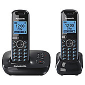 Panasonic KX-TG5522EB Twin Cordless Telephone , Black