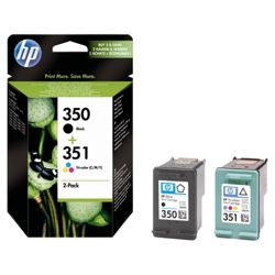 HP 350 / HP 351 Printer Ink Cartridge - Black & Colour Combo (SD412EE)