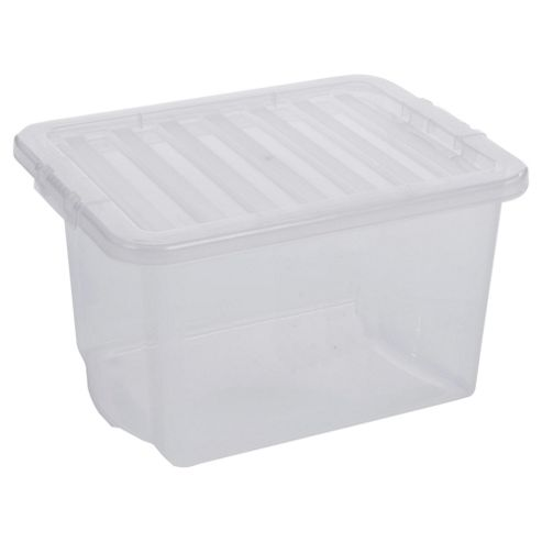 Clear 24L Plastic Storage Box