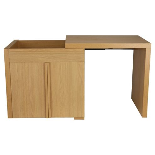 Brandon Extending Desk, Oak Effect Finish