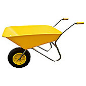 Threeway Bull Barrow Picador Plastic Wheelbarrow - Yellow