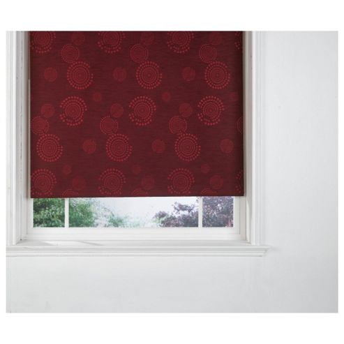 Circle Printed Blackout Roller Blind 90X160Cm Red