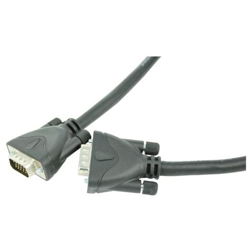 Tesco VGA/SVGA Monitor Cable 2M connects monitor or LCD television to PC