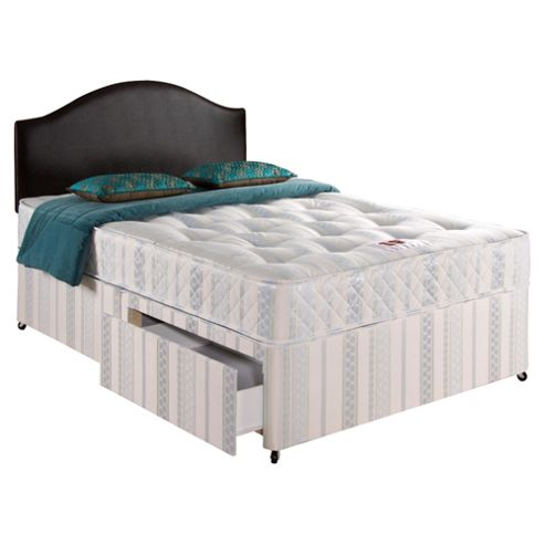 Buy airsprung single divan bed set ortho care deluxe 2 for Single two drawer divan bed