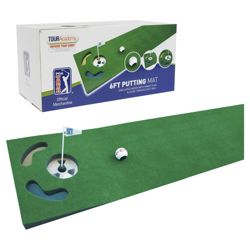 PGA 6ft Putting Mat with guide ball and training tips