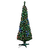 Tesco Fibre Optic Christmas Tree, 6ft