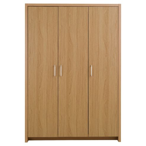 Manhattan 3 Door Wardrobe, Oak Effect