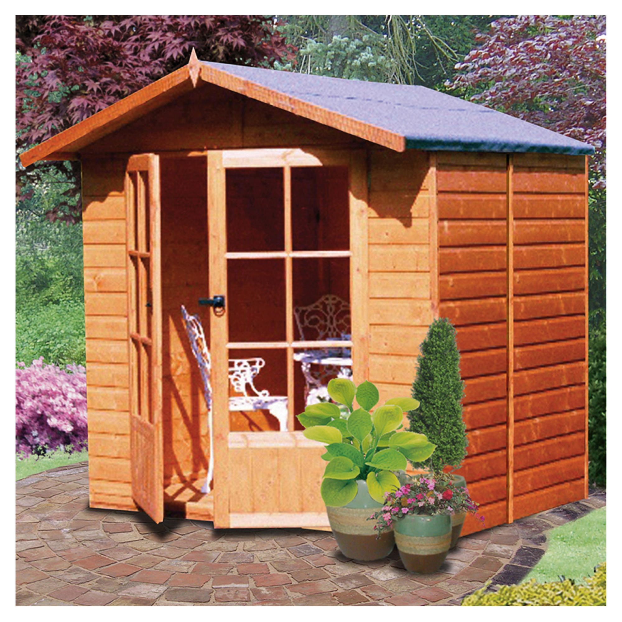 Finewood Lumley Wooden Summerhouse at Tesco Direct