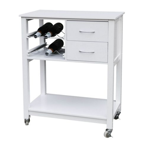 Premier Housewares Kitchen Trolley in White