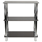 Atom 3 Shelf Unit, Black