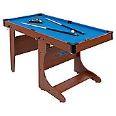 BCE 4ft 6in Folding Pool Table with Snooker Balls