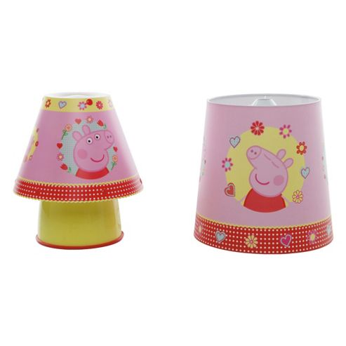 Buy peppa pig bedside lamp ceiling shade set from our for Peppa pig lamp and light shade