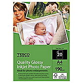 Tesco quality glossy inkejet A4 Photo Paper - 20 Sheets